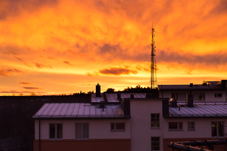 Brinnande himmel